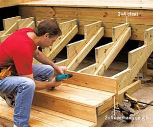 wonderful wood stair risers | Building Deck Stairs | Wonderful Woodworking