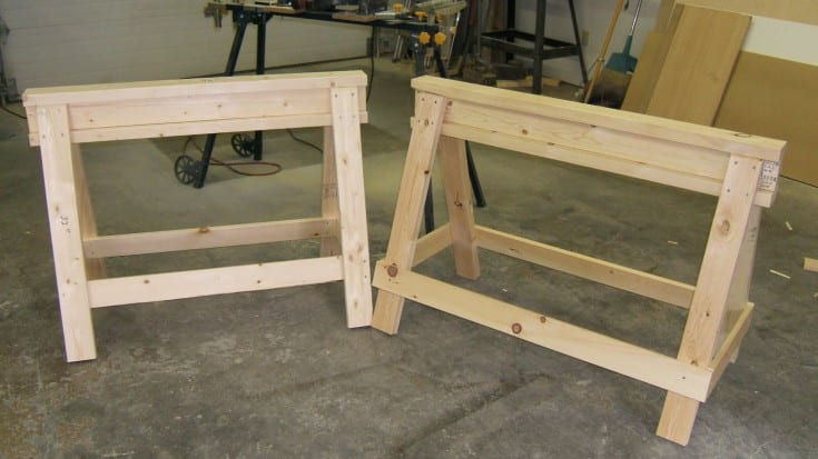 Stackable Saw Horses Wonderful Woodworking