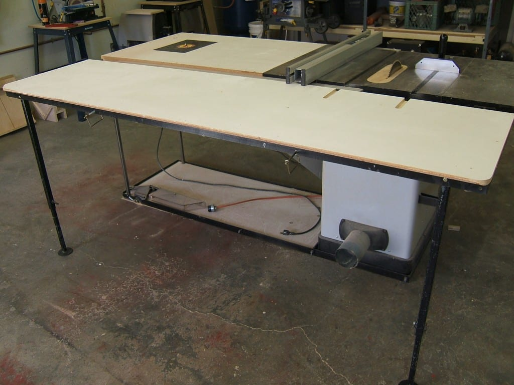 Folding Out Feed Table For Your Table Saw Wonderful Woodworking
