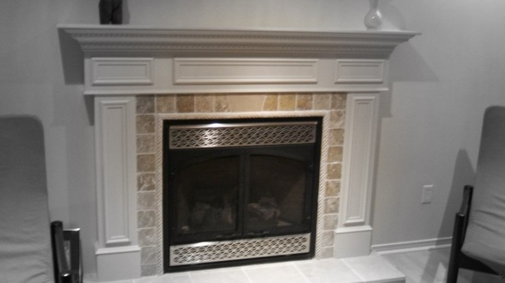 how to build a fireplace mantel youtube