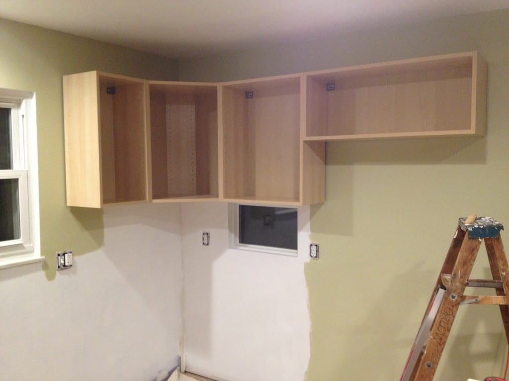 How To Hang Kitchen Wall Cabinets