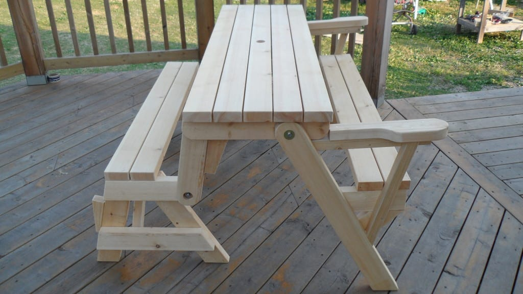 Fantastic Diy Folding Bench Picnic Table Plans Diy Projects Theyellowbook Wood Chair Design Ideas Theyellowbookinfo