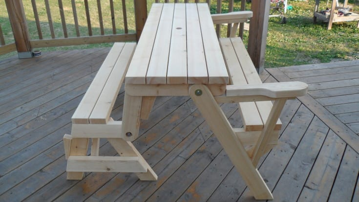 how to build a folding picnic table wonderful woodworking. Black Bedroom Furniture Sets. Home Design Ideas