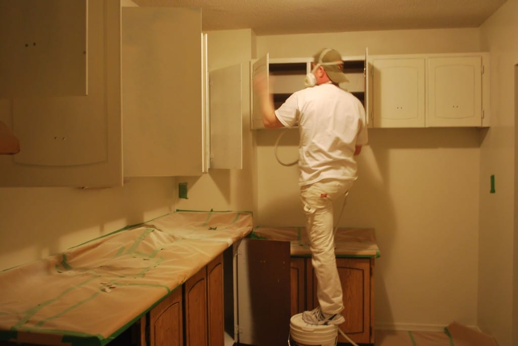 How To Paint White Kitchen Cabinets To Look Like Wood
