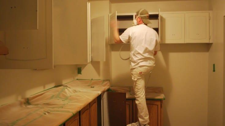 Spray Kitchen Cabinets Like A Pro