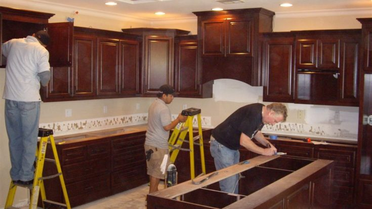 Installing Kitchen Cabinets Wonderful Woodworking - How to hang kitchen cabinets