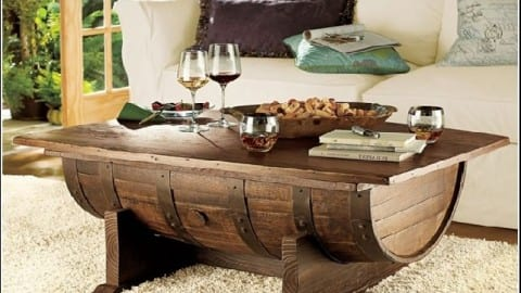 Wine Barrel Coffee Table Wonderful Woodworking