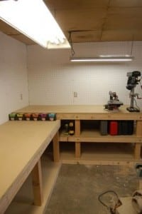 bench and counter
