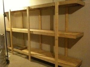 building free standing shelving