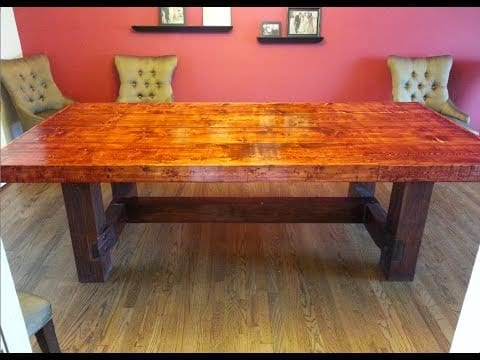 building a dining room table wonderful woodworking